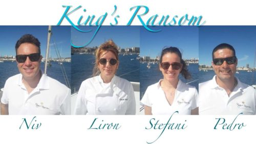 Captain and Crew of Kings Ransom, a 76ft Matrix Silhouette Caribbean Yacht Charter