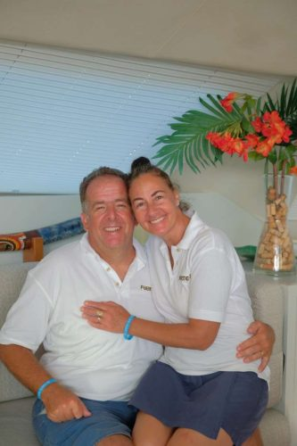 Captain and Crew of Fuerte 3, a 67 ft Lagoon Caribbean Yacht Charter