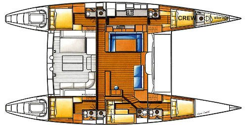Yacht Layout of British Virgin Islands Charter Fuerte 3