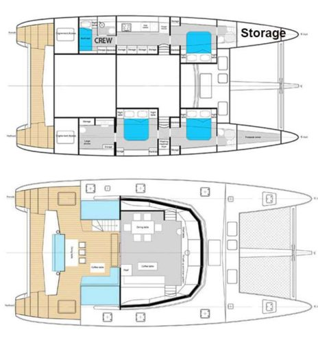 Yacht Layout of British Virgin Islands Charter Euphoria