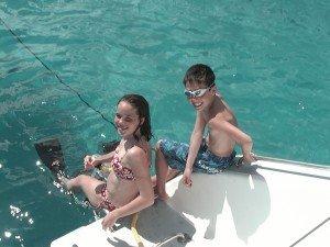 Snorkeling Off The Transom - Catamaran Charters BVI