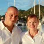 Meet Xenia 50's Captain and Crew. Sail the Caribbean aboard this 50 Ft Privilege BVI Yacht Charter.