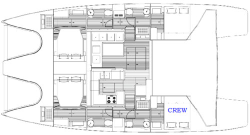 Yacht Layout of British Virgin Islands Charter Xenia 50