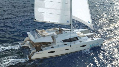 Come aboard BVI Yacht Charter Port to Vino 58 ft Catamaran