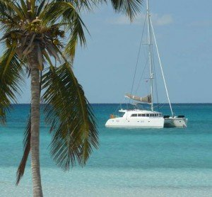 Experience a state-of-the-art Caribbean yachting vacation aboard BVI cataraman charter Azuria.