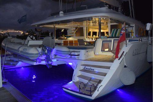 Come aboard BVI Yacht Charter SandiSeas 62 ft Catamaran