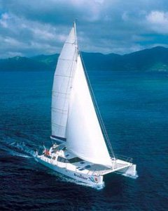 catamaran for charter in BVI and Caribbean
