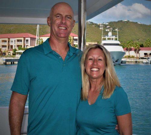 Captain and Crew of Sea Boss 60 ft Power Catamaran, a 60 ft Caribbean Yacht Charter