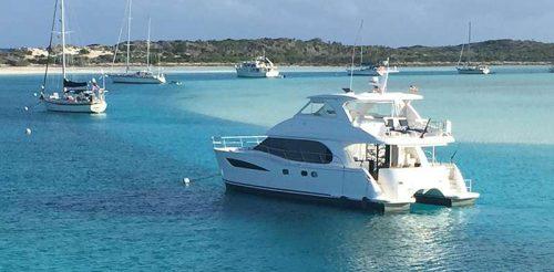 Cat Cay at anchor