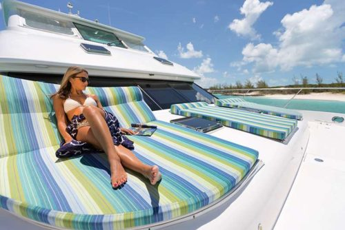 Cat Cay sunloungers