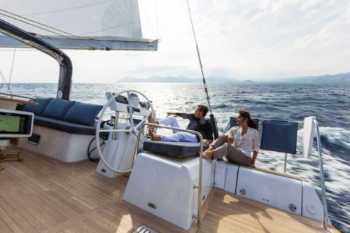 Come aboard BVI Yacht Charter Ocean Star 60 ft Sailing Yacht