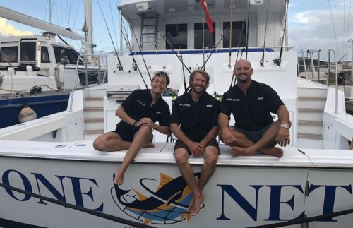 Captain and Crew of One Net 86 ft Motor Yacht, a 86 Feet Hatteras Caribbean Yacht Charter