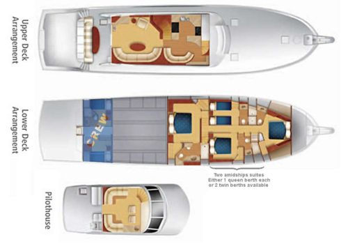 Yacht Layout of British Virgin Islands Charter One Net 86 ft Motor Yacht