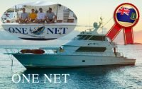 One Net with Vlad, Derek and Nick aboard Runner Up Winners of CYBA Best Designer Water at the BVI 2019 Boat Show