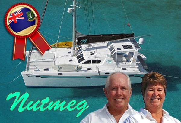 Nutmeg with Whitely and Max aboard Runner Up Winners of Best Yacht under 56ft at the BVI 2019 Boat Show
