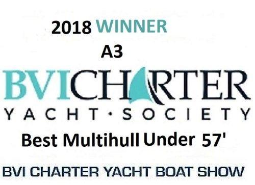 Come aboard BVI Yacht Charter A3 –  56 ft Catamaran