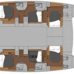 Yacht Layout of British Virgin Islands Charter Blue Pepper 60 ft Catamaran