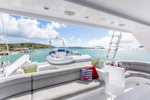 Come aboard BVI Yacht Charter Prime Time 88 ft Motor Yacht