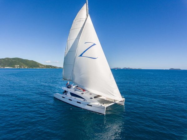 catamaran for charter in BVI and Caribbean