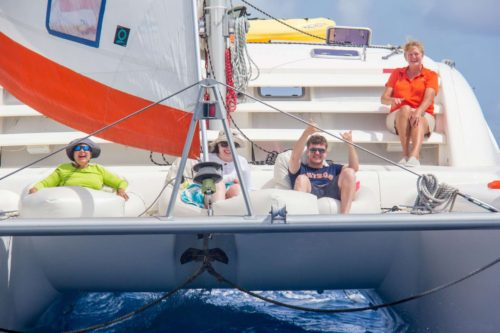 Come aboard BVI Yacht Charter Starfish 46 ft Catamaran