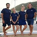 Meet Angeleyes 85ft Motor Yacht's Captain and Crew. Sail the Caribbean aboard this 85.6 Ft  Horizon BVI Yacht Charter.
