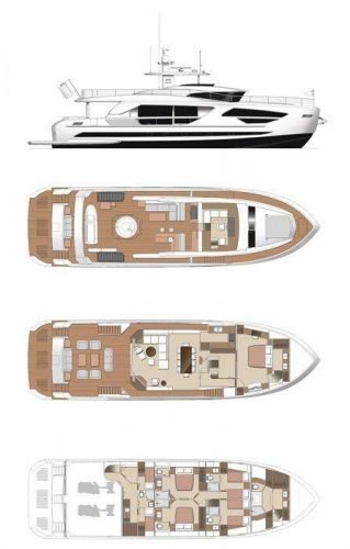 Yacht Layout of British Virgin Islands Charter Angeleyes 85ft Motor Yacht