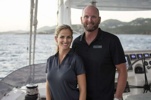 Captain and Crew of Excess 70ft Catamaran, a 70 ft Sunreef Yacht Caribbean Yacht Charter
