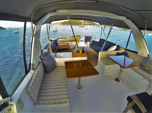 Come aboard BVI Yacht Charter MCGREGOR III 60 ft Motor Yacht