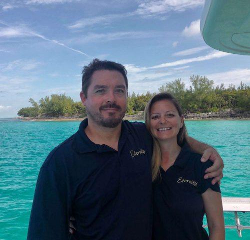 Captain and Crew of Seaglass 74ft Power Catamaran, a 74 ft Horizon Caribbean Yacht Charter