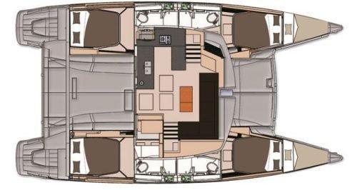 Yacht Layout of British Virgin Islands Charter ALLENDE 44FT CATAMARAN