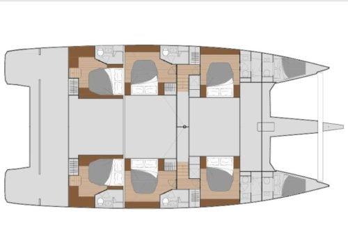 Yacht Layout of British Virgin Islands Charter MY TY 67ft Catamaran