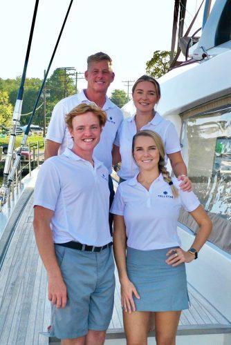 Captain and Crew of Tellstar 77ft Catamaran, a 77ft Lagoon Caribbean Yacht Charter
