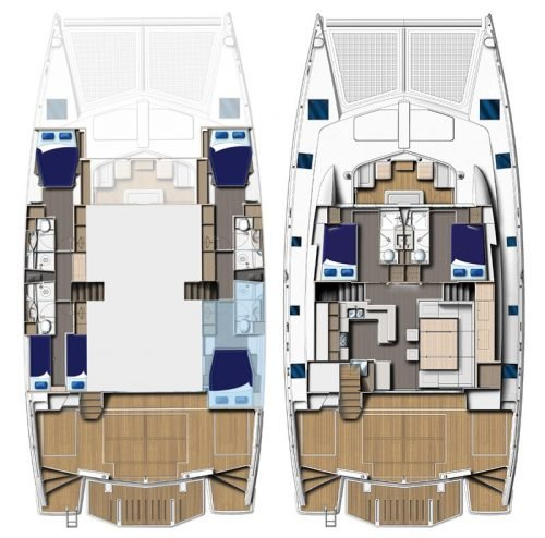 Yacht Layout of British Virgin Islands Charter The Annex 58ft Catamaran