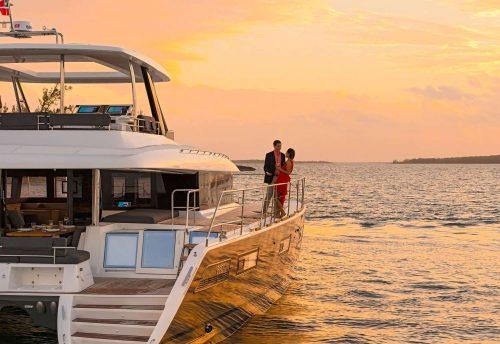 Come aboard BVI Yacht Charter ULTRA 62FT Power Catamaran